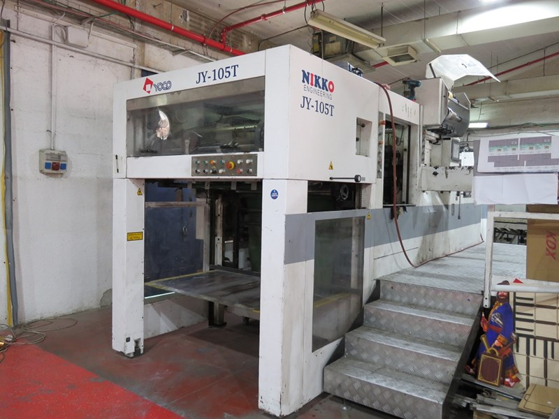 JY 105 T Automatic die cutting and hot foil