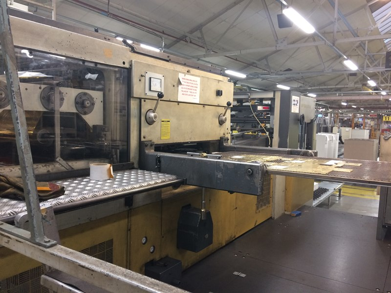 Bobst SP 126 BMA Hot Foiling & Embosing