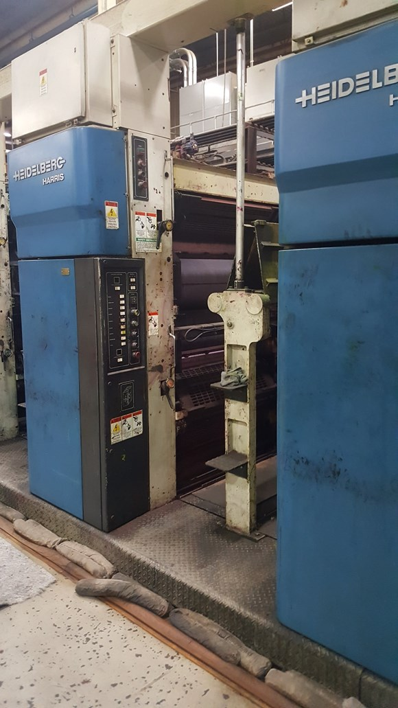 1997 Heidelberg Harris M1000B (9) Unit (2) Web Press