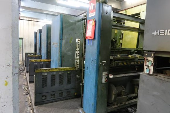 1998 Heidelberg M600 B24 (8) Unit (2) Web Duplexed Press