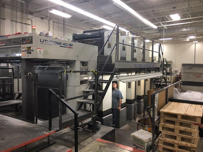 2002 Komori L440SP 8 Color