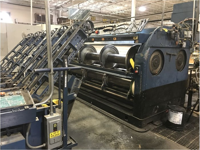S & S One Color Printer w/ Slotter and Skip Feed
