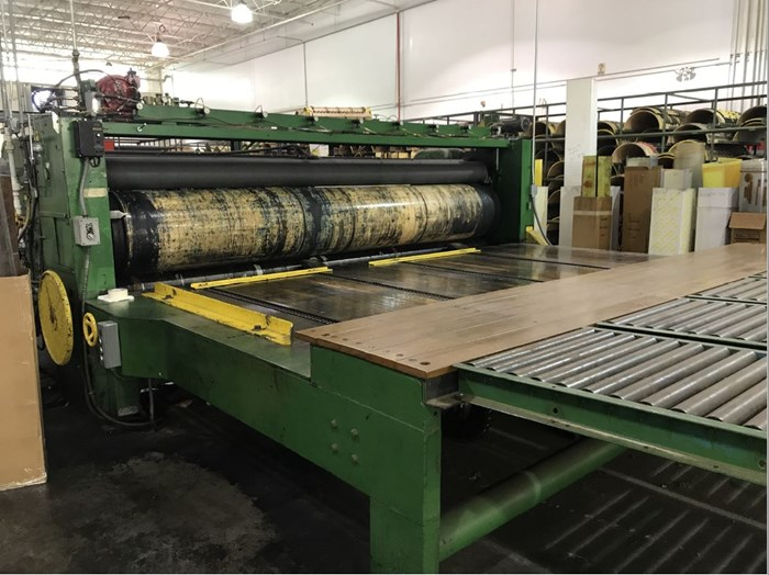S & S One Color Slotter Printer