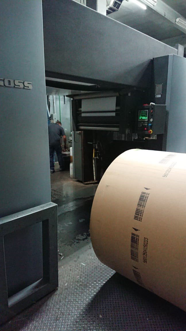 "Goss® M600 A-24 Web Press 5 Units 22 3/4"" cut off JF45 Folder"