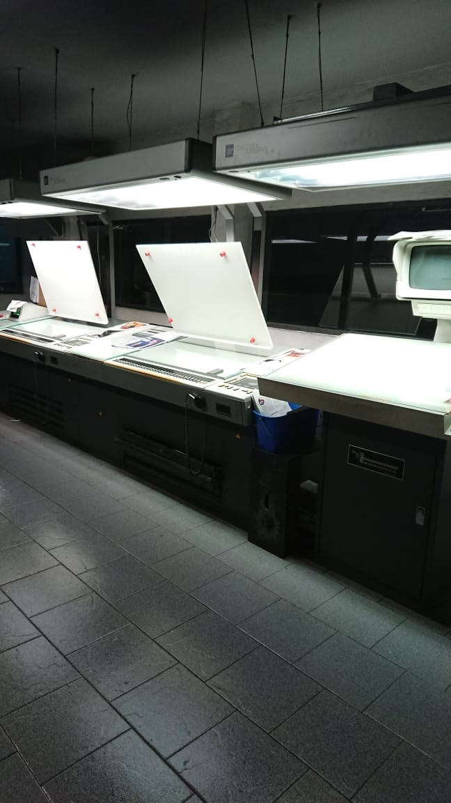 "Heidelberg® M600 A-24 Web Press 4 units cut off 22 3/4"" JF44 Folder"