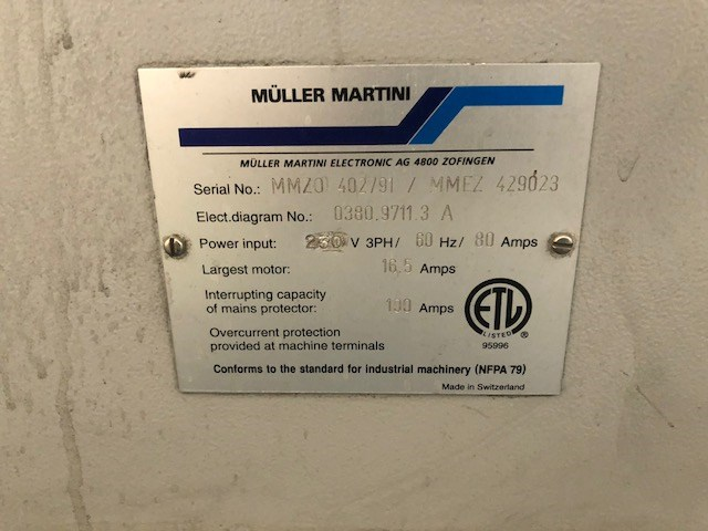 Muller Martini Bravo S 6 Pocket Saddle Stitcher