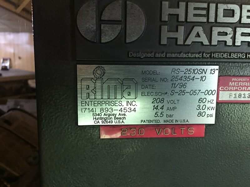 "Rima RS-2510SN 13"" Stacker"