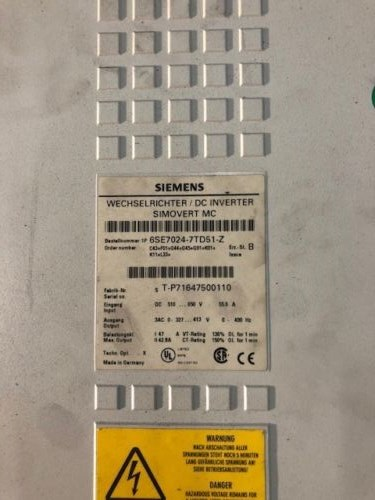 Siemens Master Drive 6SE7024-7TD51-Z