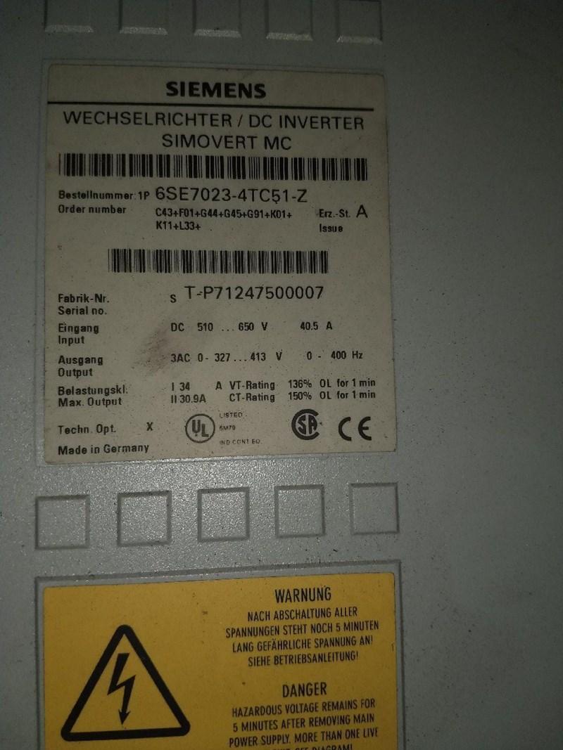 Siemens Master Drive 6SE7023-4TC51-Z