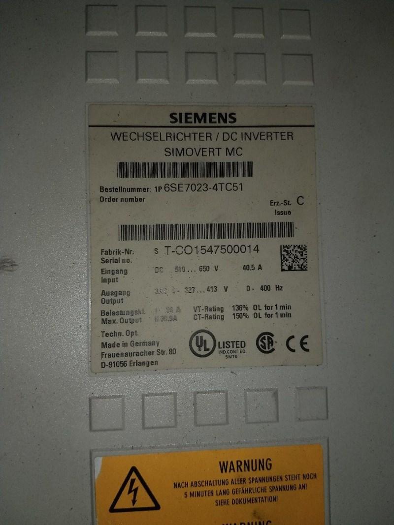 Siemens Master Drive 6SE7023-4TC51