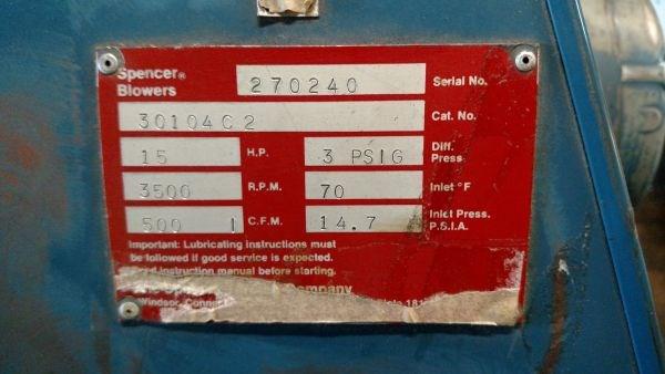 Spencer 15 HP Blower