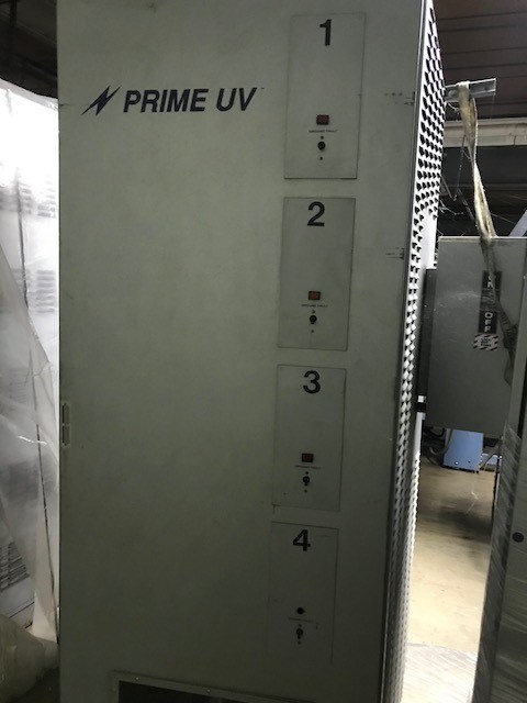 "PRIME UV SYSTEM TO WEB PRESS MACHINE 27"" WIDE."