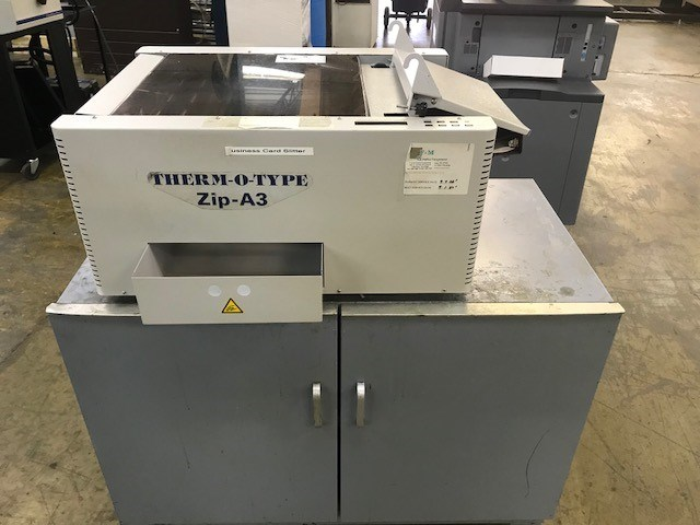 THERM-O-TYPE, Zip-A3. Programmable Cutting Machine