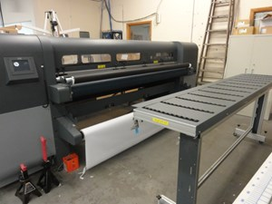 "2013 Hewlett Packard FB700 98"" wide Flatbed UV printer"
