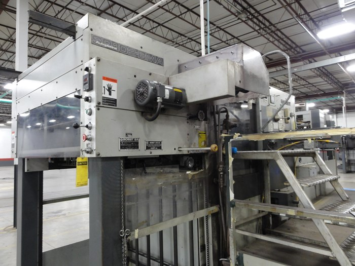 "Bobst SP102BMA 28""x41"" hot foil and stamping"