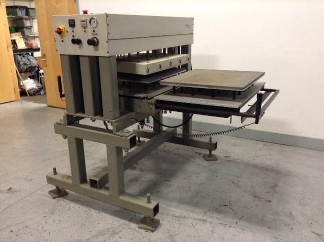 """George Knight Co. dual station heat transfer press, 32"""" x 24"""""""