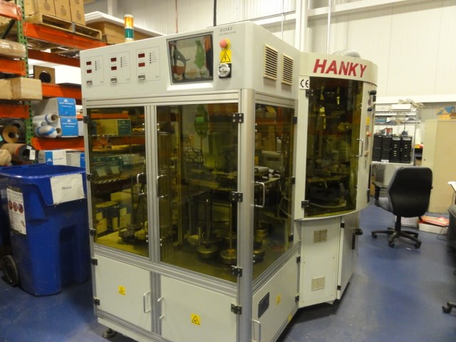 2000 Hanky CD-6000VE 5/c UV screen printer for imaging on CD/DVD's