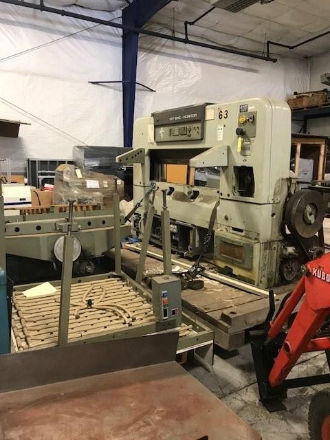 "Polar 137EMC 54"" paper cutter w P-1 side tables"