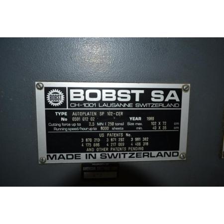"""Bobst SP102CER 28""""x40"""" autoplaten die cutter"""