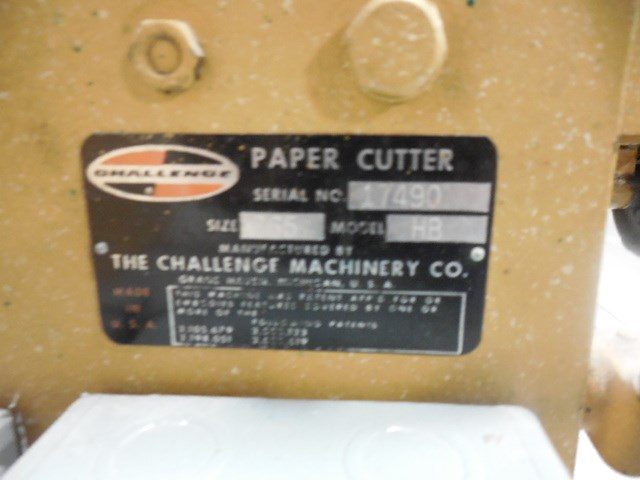 "Challenge 265 26.5"" hydraulic paper cutter"