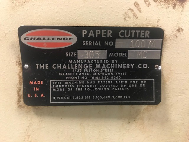 "Challenge Champion 30.5"" paper cutter"