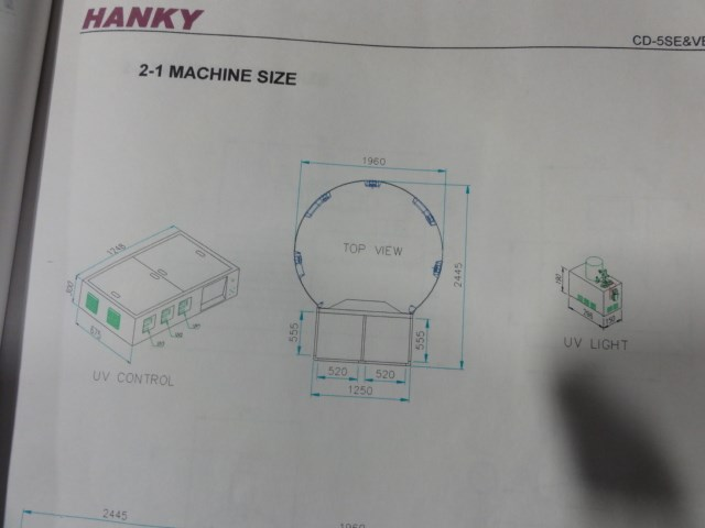 Hanky CD-6000VE 5/c UV screen printer for imaging on CD/DVD's