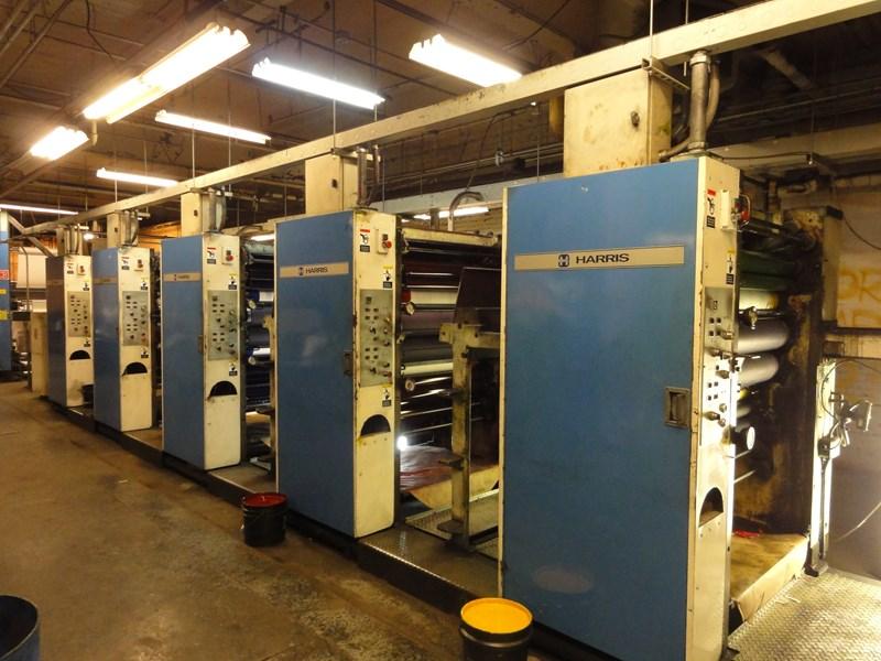Harris M200 heatset 22 3/4 x 38 web offset press