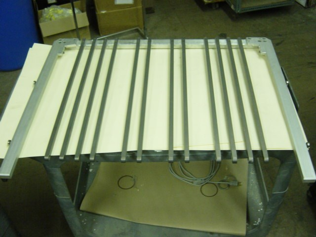 Heidelberg CD 74  - continuous delivery rake