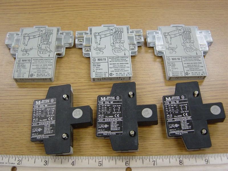 Heidelberg motor control switches, Klockner-Moeller