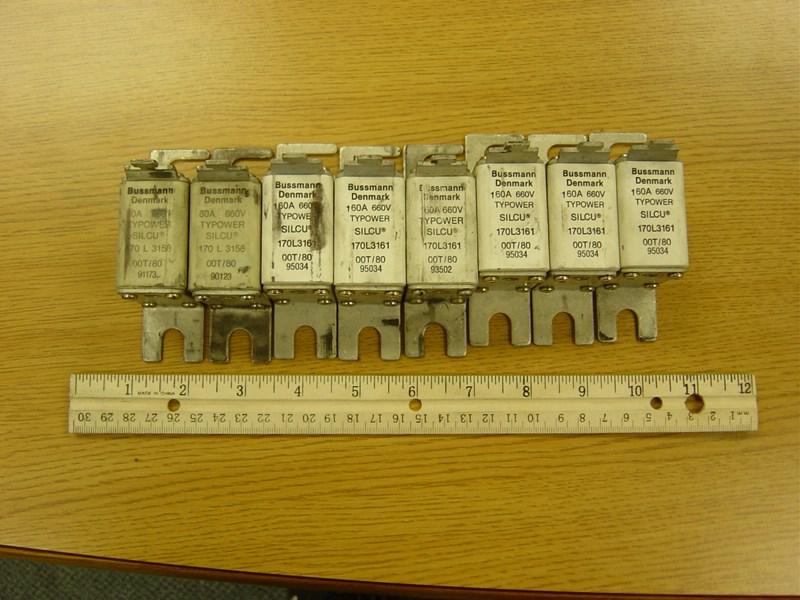 Heidelberg fuses, box type (2) 80 amp & (6) 160 amp