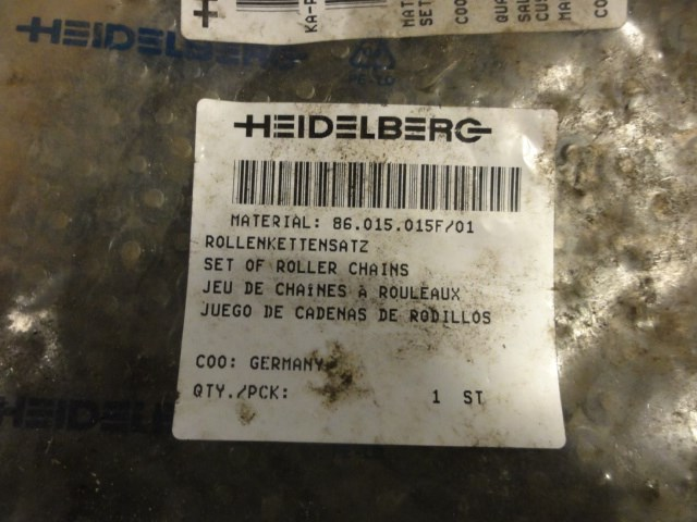 Heidelberg S Press offset parts package