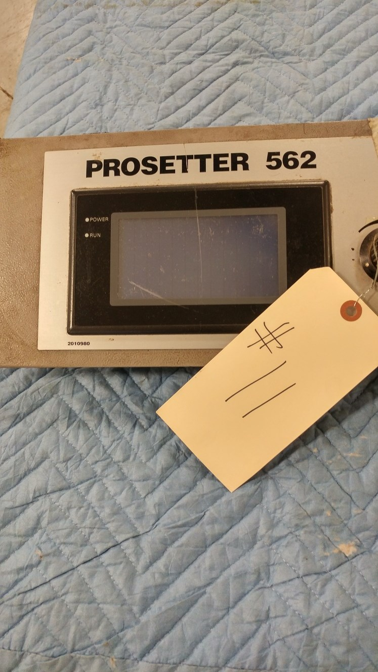 Heidelberg Prosetter 562 control panel screen