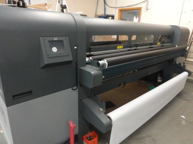 "Hewlett Packard FB700 98"" wide Flatbed UV printer"