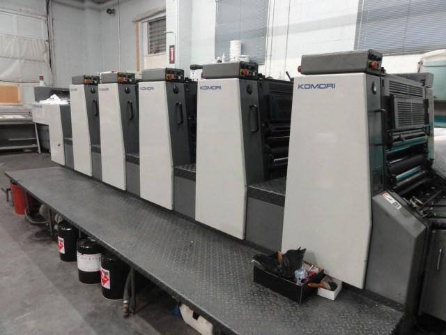 """Komori L528 5/c 20"""" x 28"""" offset press"""