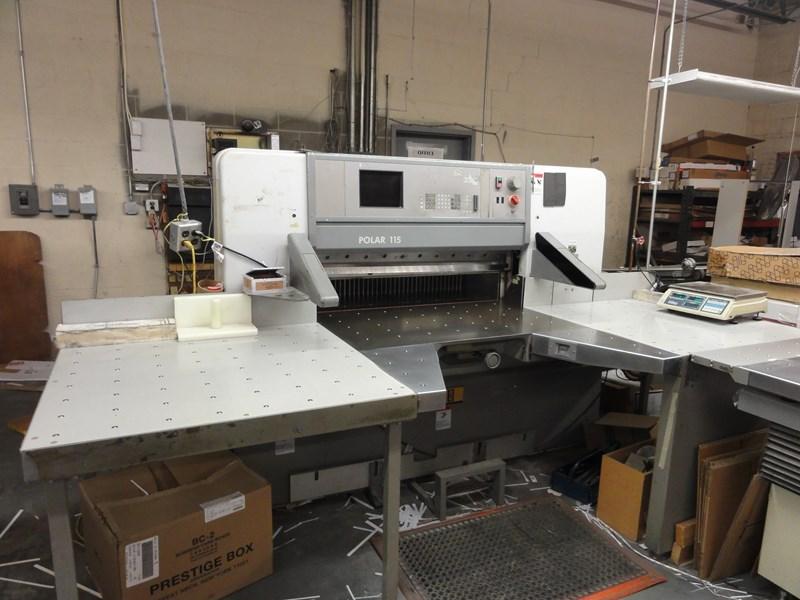 "Polar 115E 45 1/4"" programmable paper cutter w/ 6 blades"