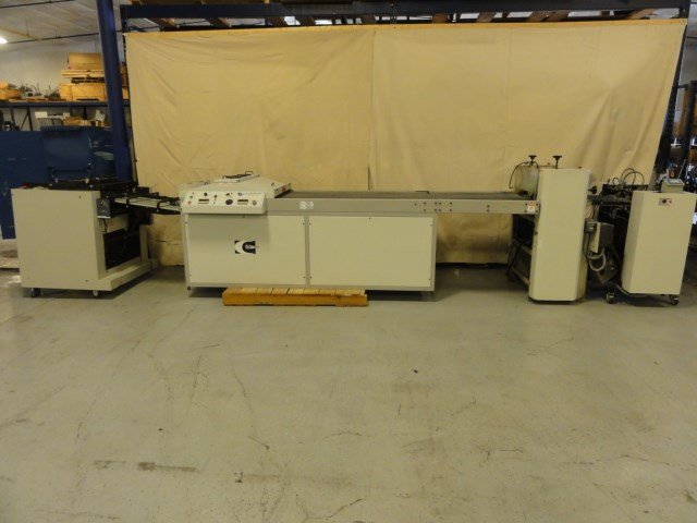 """TEC lighting T51P 24"""" wide UV coating system w/ vacuum & delivery receding stacker"""