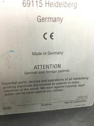 Heidelberg XL 105-6+LX