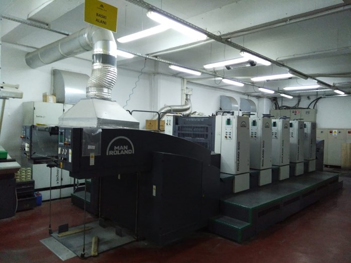 Roland R505 5-colour press