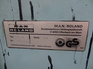 MAN Roland FAVORIT RVF 0B Four Colour Offset Press