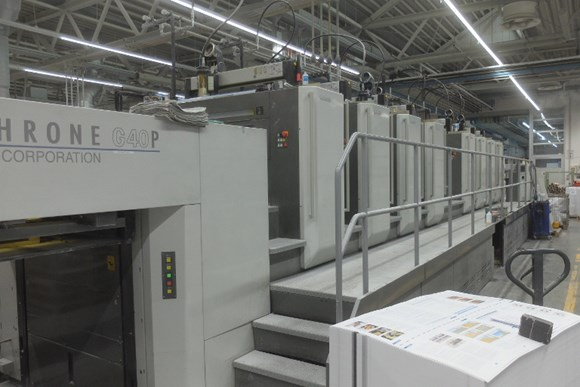 Komori Lithrone G 840PH Eight Colour Offset Press