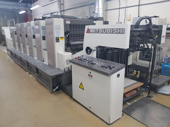 2005 Mitsubishi 1000 LS 5 C Five Colour Offset Press