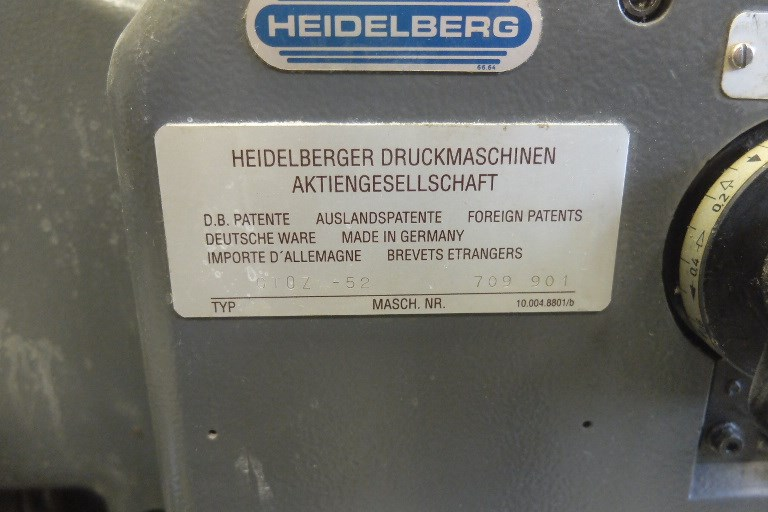 Heidelberg GTO 52 Z + Two Colour Offset Press