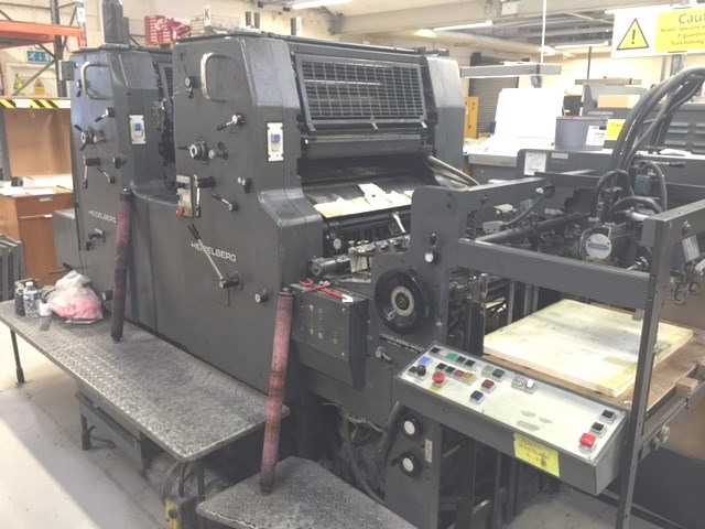Heidelberg MOZP-S Two Colour Offset Press