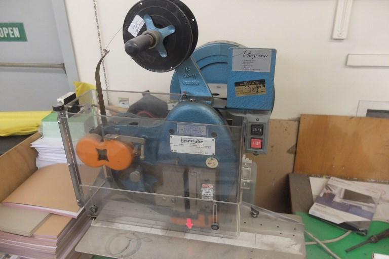 Interlake Hand Fed Wire Stitching Machine