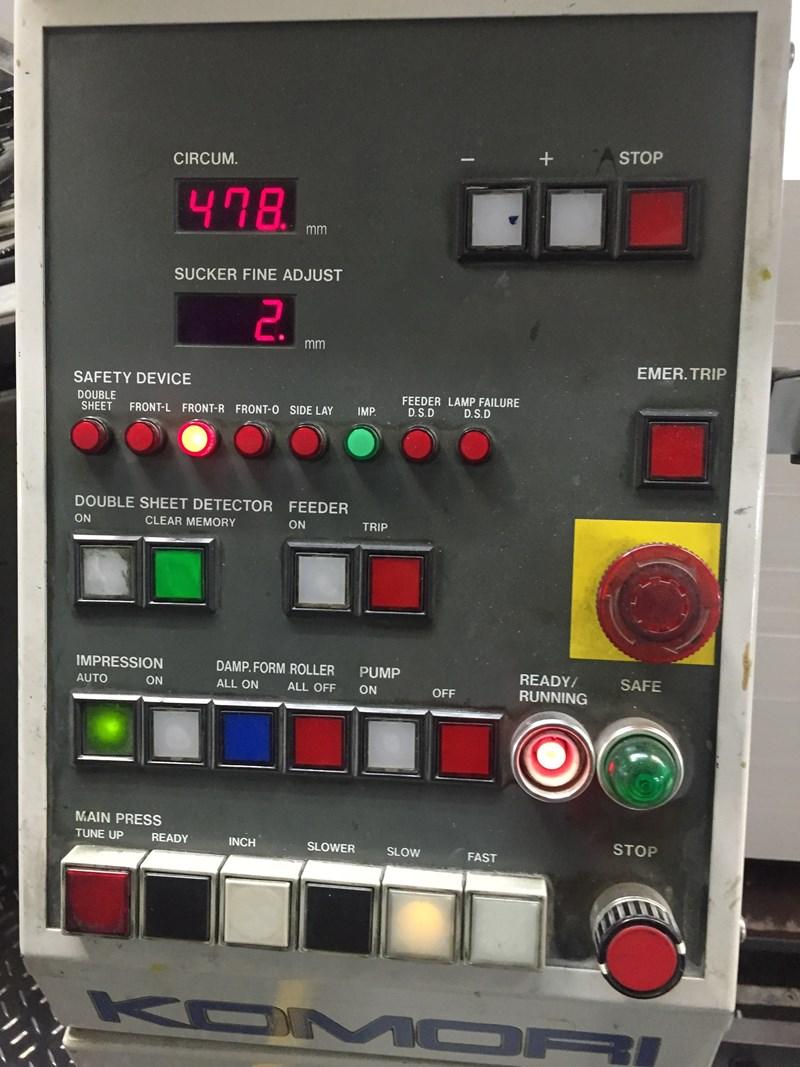 Komori Lithrone L628EM Six Colour Offset Press