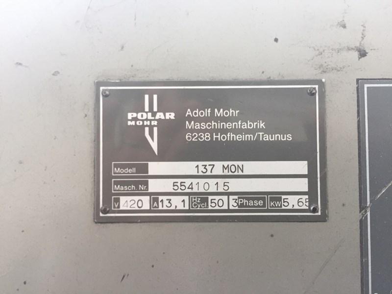 Polar 137 EMC Programmatic Guillotine