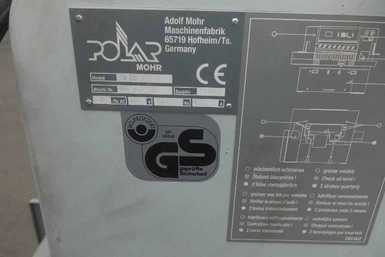 Polar Mohr 78ES Programmatic Guillotine