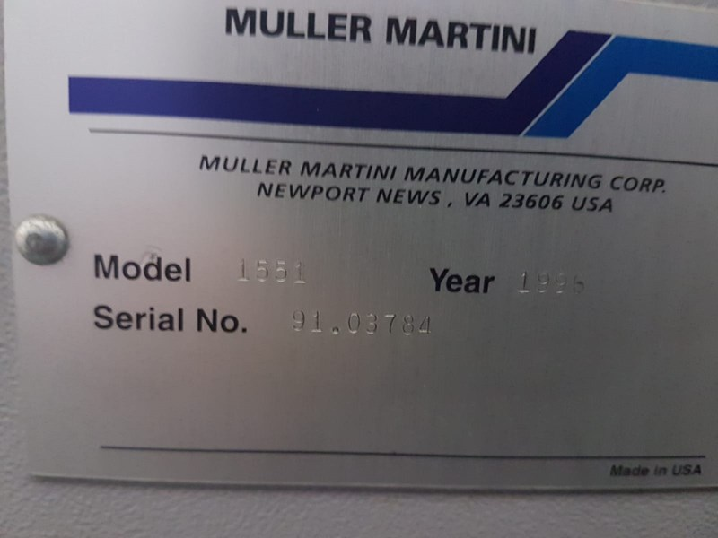 Muller Martini Presto 4 station gatherer stitcher trimmer