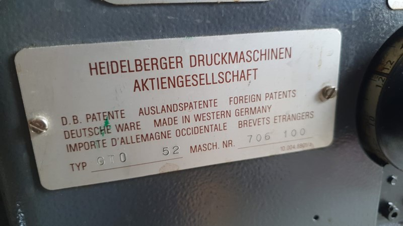 Heidelberg GTO 52+