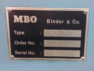 MBO B26-1-26/4 folding machine